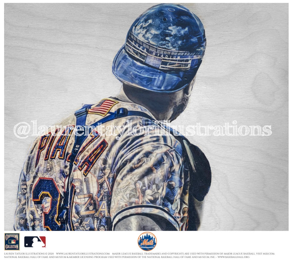 """Pepperoni"" (Mike Piazza) New York Mets - Officially Licensed MLB Cooperstown Collection Print - Limited Release"