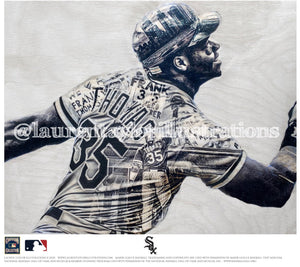 """The Big Hurt"" (Frank Thomas) Chicago White Sox - Officially Licensed MLB Cooperstown Collection Print - Limited Release"