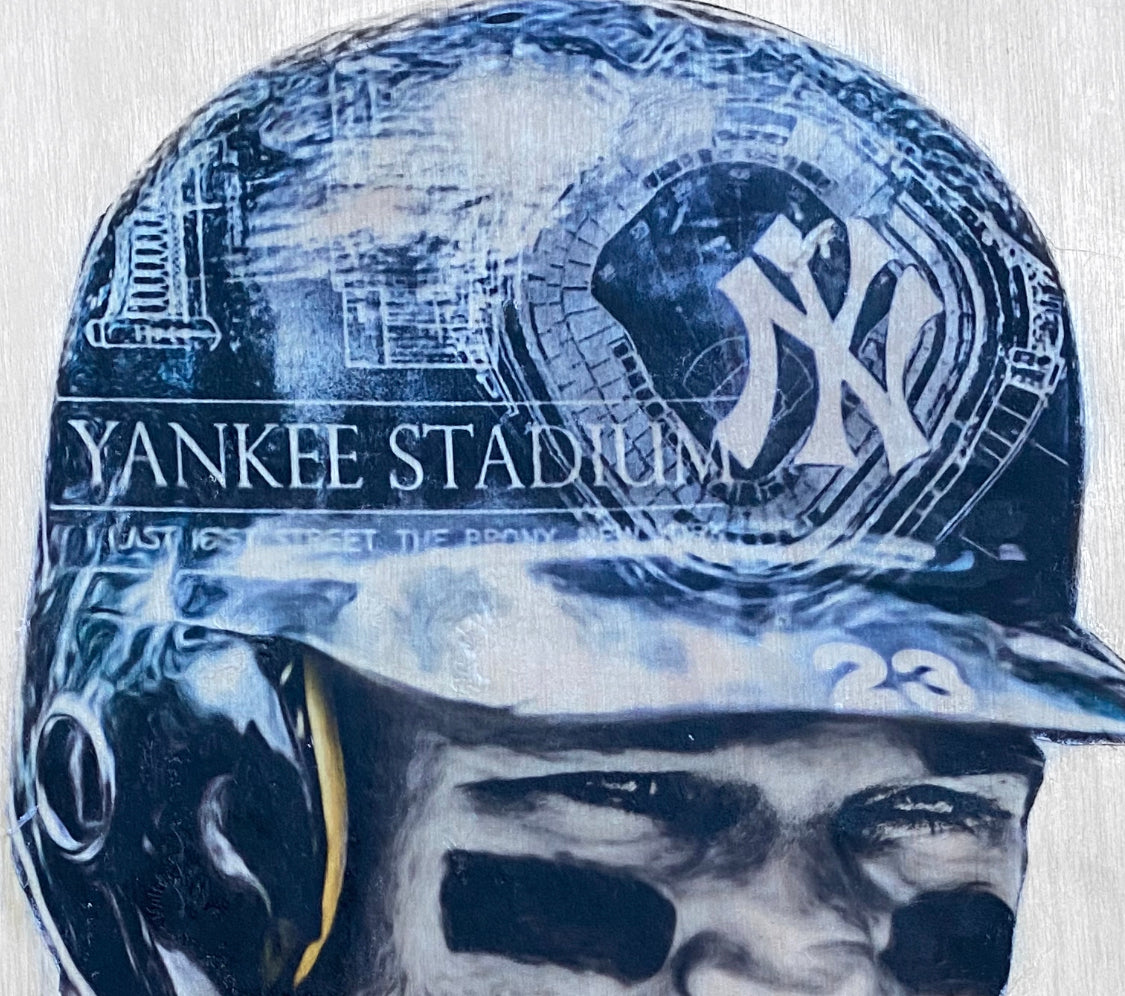 """The Hit Man"" (Don Mattingly) New York Yankees - 1/1 Original on Wood"