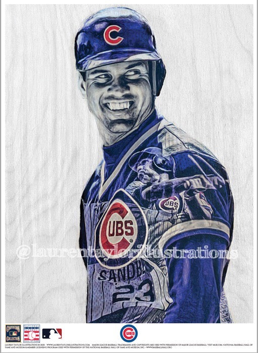 """Ryno"" (Ryne Sandberg) Chicago Cubs - Officially Licensed MLB Cooperstown Collection Print - Limited Release"