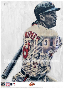 """The Iron Man"" (Cal Ripken Jr.) Baltimore Orioles - Officially Licensed MLB Cooperstown Collection Print - Limited Release"