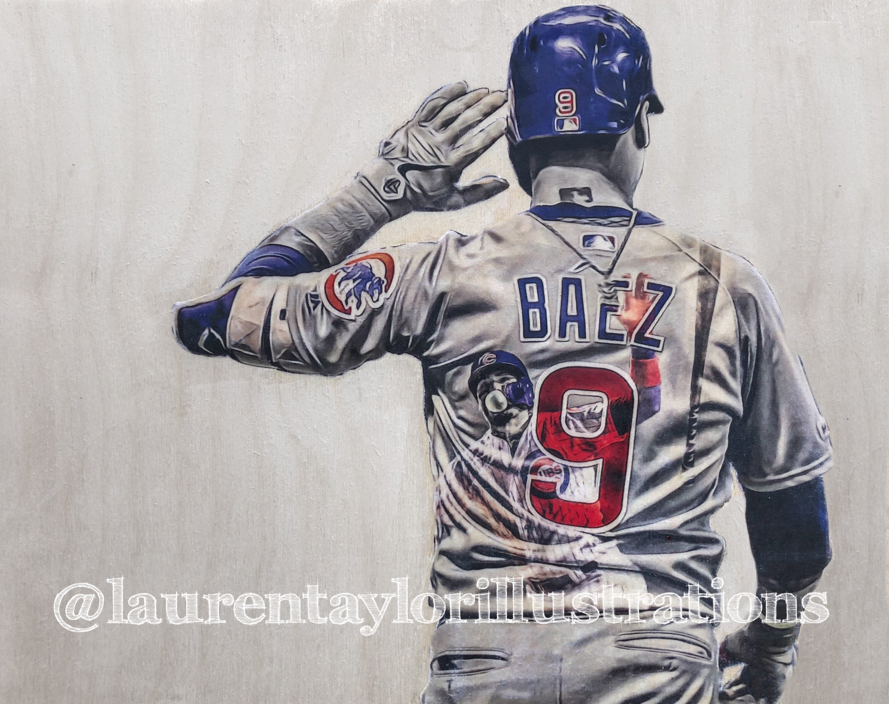 """El Mago (Javier Báez)"" Original on Wood"