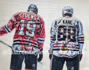 """Blackhawks"" (Patrick Kane & Johnathan Toews) - Limited Release Print /50"