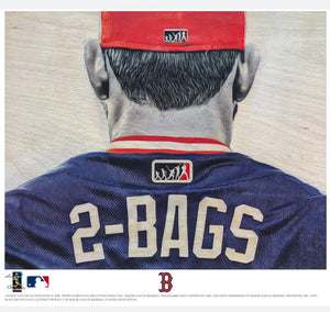 """2 BAGS"" (Mitch Moreland) - Officially Licensed MLB Print - Limited Release"