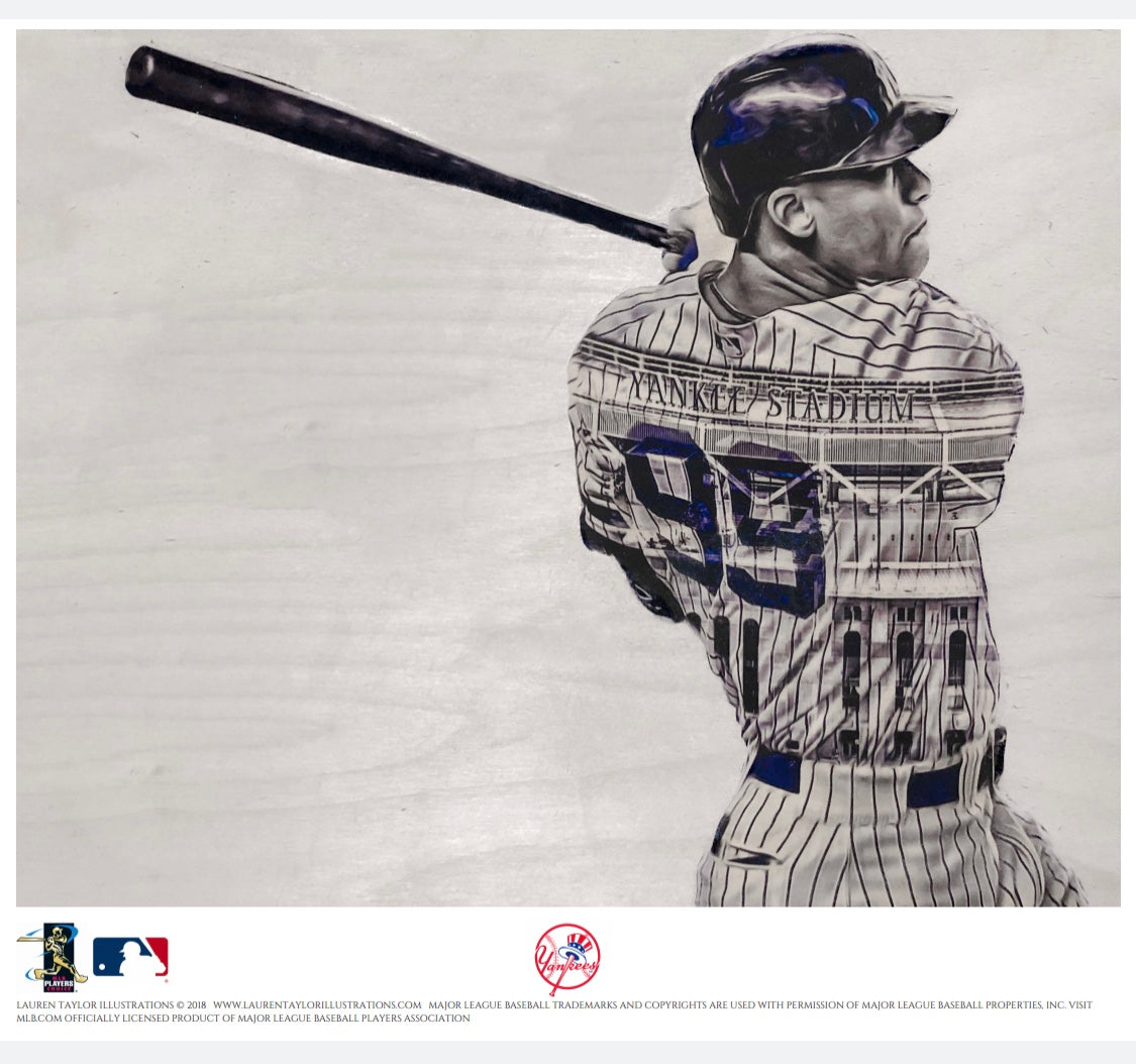 """99"" (Aaron Judge) - Officially Licensed MLB Print - Limited Release"