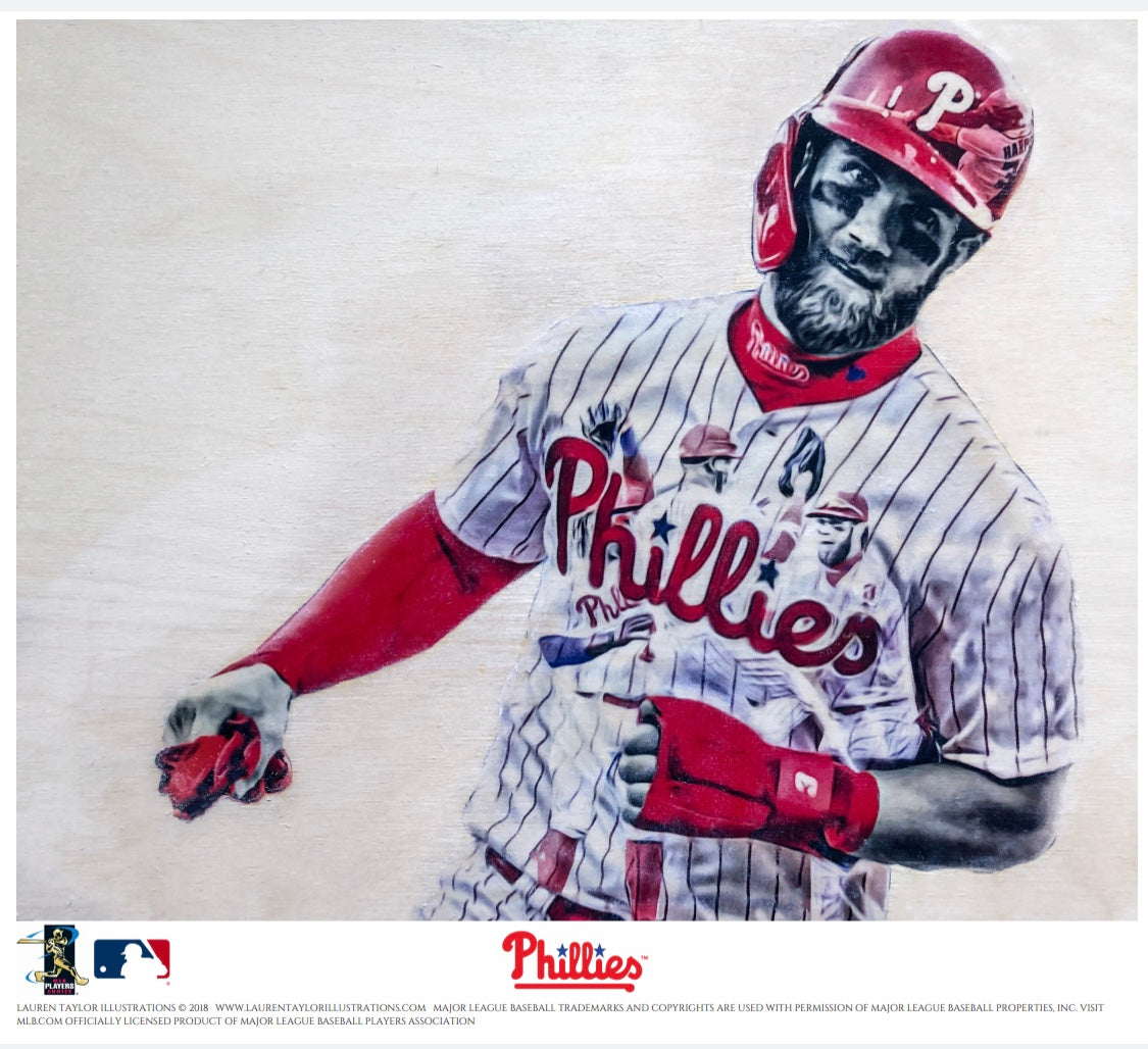"""Philly Harper"" (Bryce Harper) - Officially Licensed MLB Print"