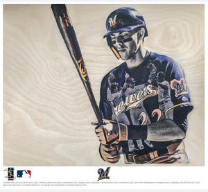 """Yelich"" (Christian Yelich) - Officially Licensed MLB Print - Limited Release"