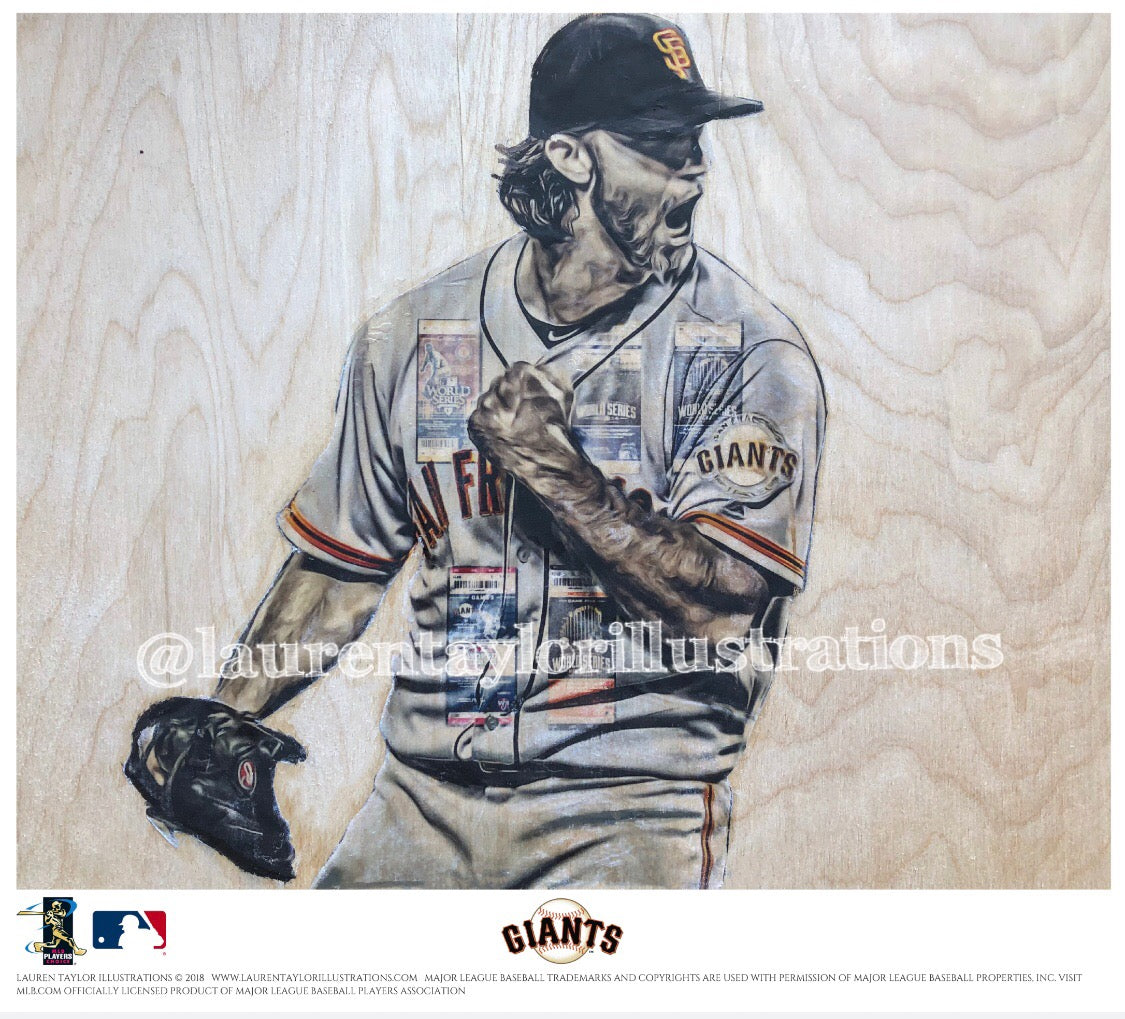 """MadBum"" (Madison Bumgarner) - Officially Licensed MLB Print - Limited Release"