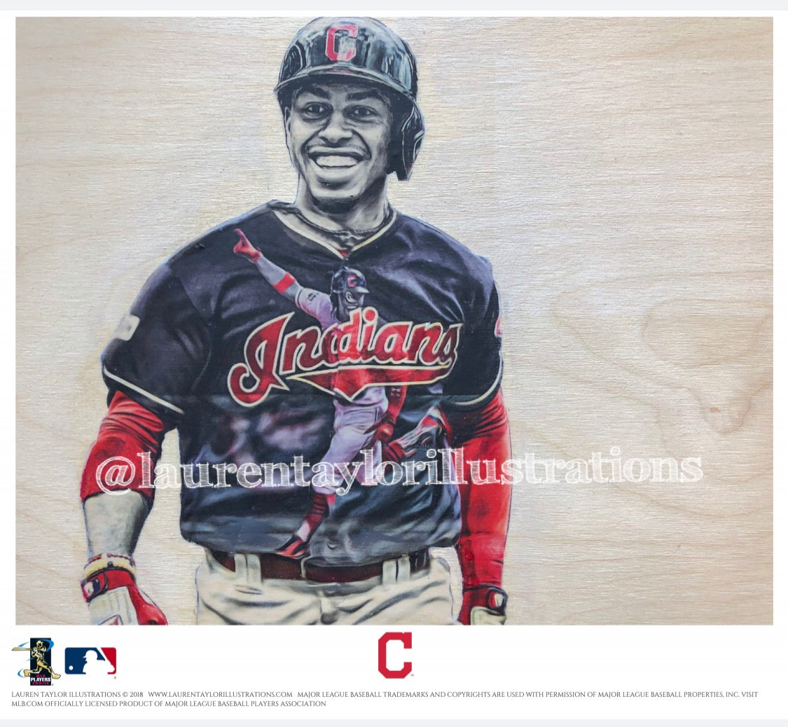 """Paquito"" (Francisco Lindor) - Officially Licensed MLB Print - Limited Release"