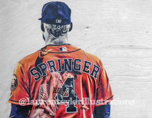 """Springer"" 1/1 Original on Wood"