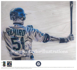 """Ichi-Virtuoso"" (Ichiro Suzuki) - Officially Licensed MLB Print - Limited Release"
