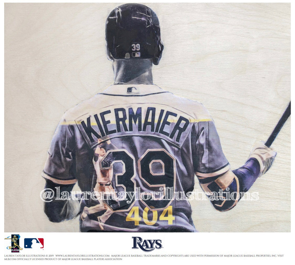 """Kiermaier"" (Kevin Kiermaier) - Officially Licensed MLB Print - Limited Release"
