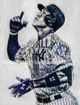 """All Rise"" (Aaron Judge) New York Yankees - 1/1 Original on Wood"