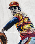 """No Hitter"" (Nolan Ryan) Houston Astros - Mixed Media 1/1 Original on Wood"