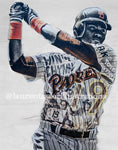 """Mr. Padre"" (Tony Gwynn) San Diego Padres - 1/1 Original on Wood"