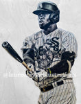 """La Pantera"" (Luis Roberts) Chicago White Sox - Original on Wood"