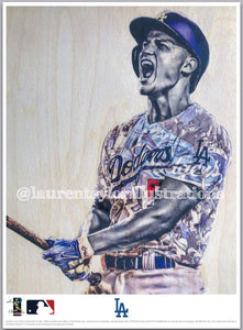 """C-Seag"" (Corey Seager) - Officially Licensed MLB Print - Limited Release"