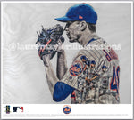 """deGrominator"" (Jacob deGrom) - Officially Licensed MLB Print - Limited Release"