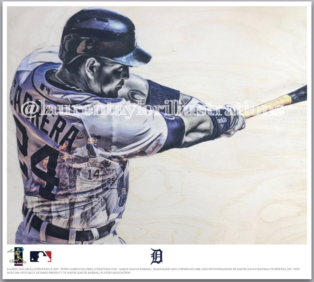 """Miggy"" (Miguel Cabrera) - Officially Licensed MLB Print - Limited Release"