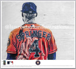 """Springer"" (George Springer) - Officially Licensed MLB Print - Limited Release"