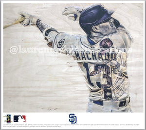 """Machado"" (Manny Machado) - Officially Licensed MLB Print - Limited Release"