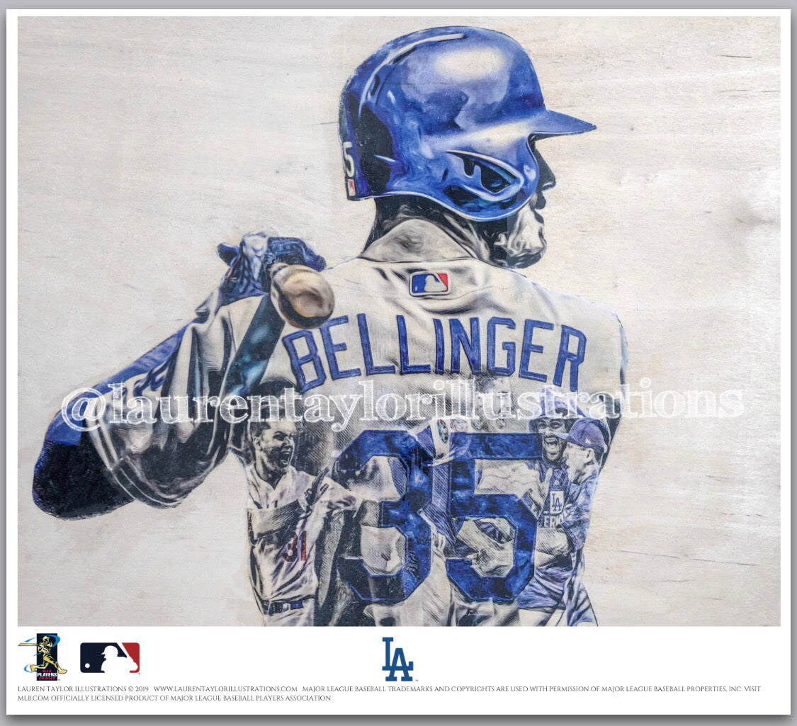 """Bellinger"" (Cody Bellinger) - Officially Licensed MLB Print - Limited Release"