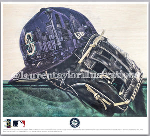 """Emerald City"" (Seattle Mariners) - Officially Licensed MLB Print - Limited Release"