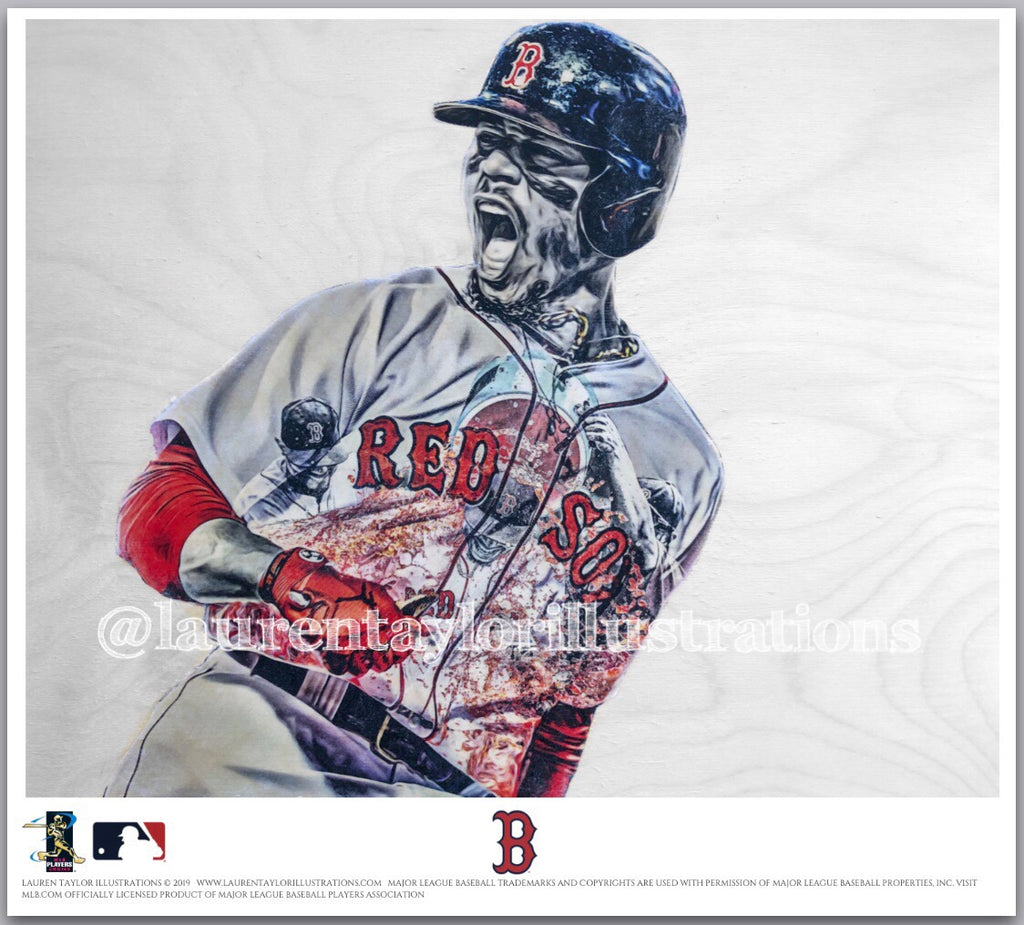 """Mookie"" (Mookie Betts) - Officially Licensed MLB Print - Limited Release"
