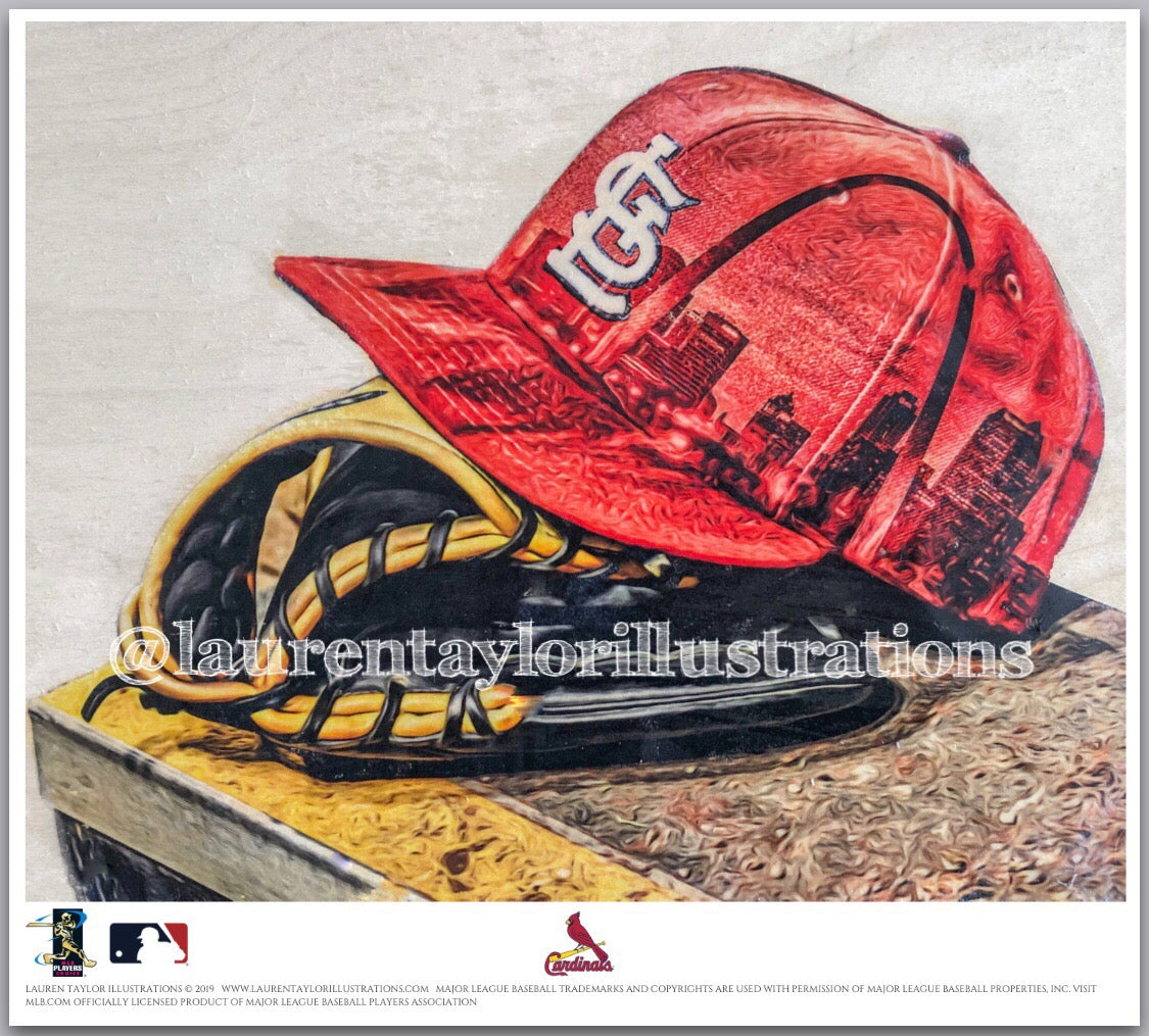 """The Lou"" (St. Louis Cardinals) - Officially Licensed MLB Print - Limited Release"