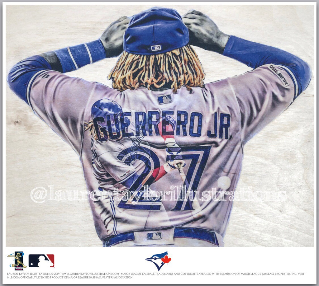 """Vladdy Jr."" (Vladimir Guerrero Jr.) - Officially Licensed MLB Print - Limited Release"