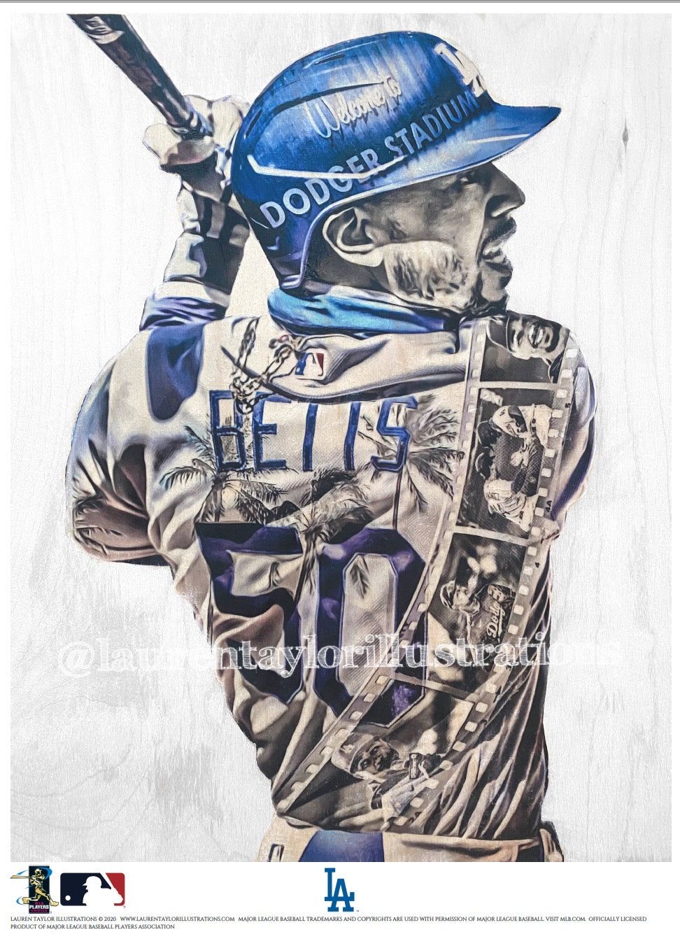 """Welcome to LA"" (Mookie Betts) Los Angeles Dodgers - Officially Licensed MLB Print - Limited Release"
