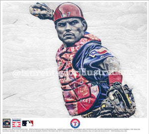 """Pudge"" (Iván Rodríguez) Texas Rangers - Officially Licensed MLB Cooperstown Collection Print - Limited Release"