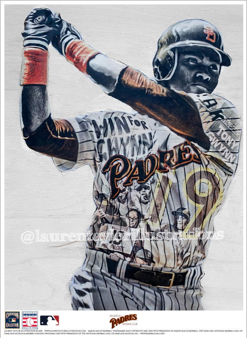 """Mr. Padre"" (Tony Gwynn) San Diego Padres - Officially Licensed MLB Cooperstown Collection Print - Limited Release"