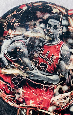 """1997"" (Michael Jordan) Chicago Bulls - 1/1 ORIGINAL on Birchwood"