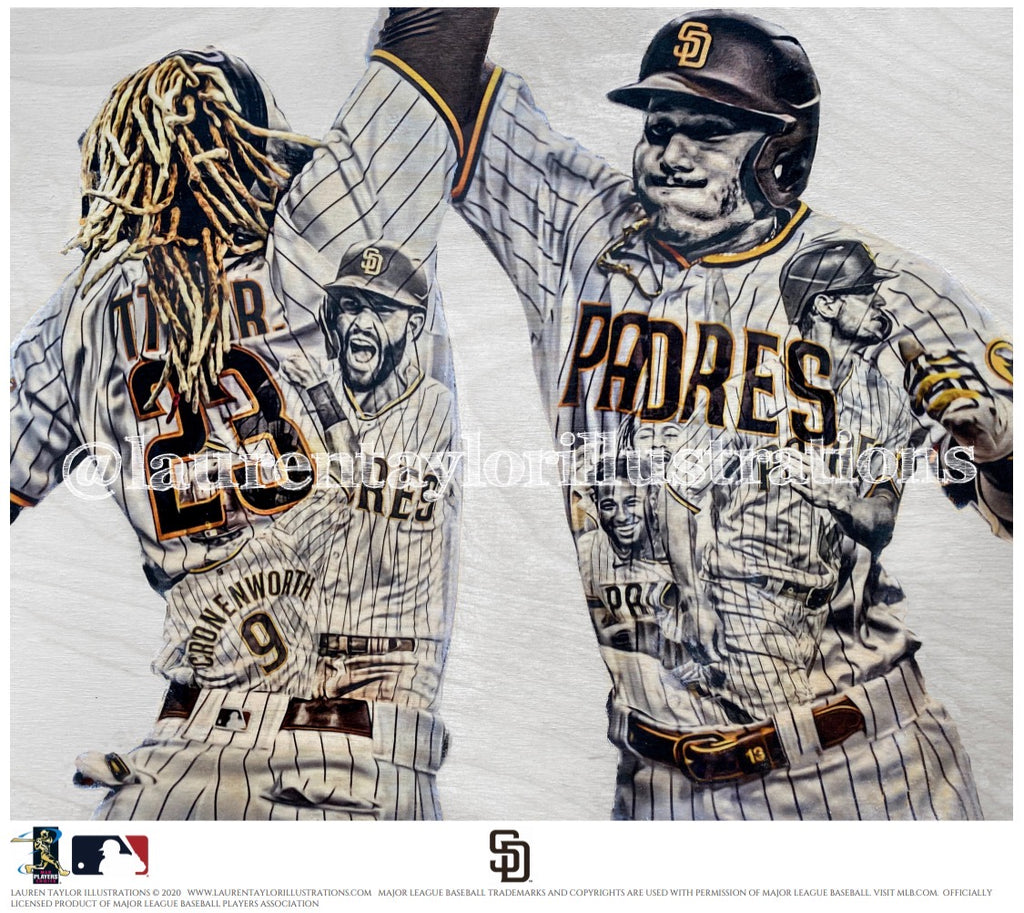 """Slam Diego"" (Tatis, Hosmer, Machado, Myers, Profar & Croneworth) San Diego Padres - Officially Licensed MLB Print - Limited Release"