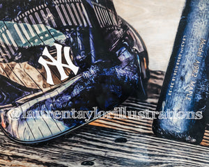 """#PinstripePride"" (New York Yankees) 1/1 Original on Wood"