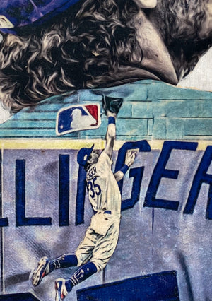 """Highlight Reel"" (Cody Bellinger) 2020 World Series - Officially Licensed MLB Print - Limited Release"
