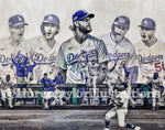 """Seven"" (World Series Commemorative Piece) Los Angeles Dodgers - 1/1 Original on Wood"
