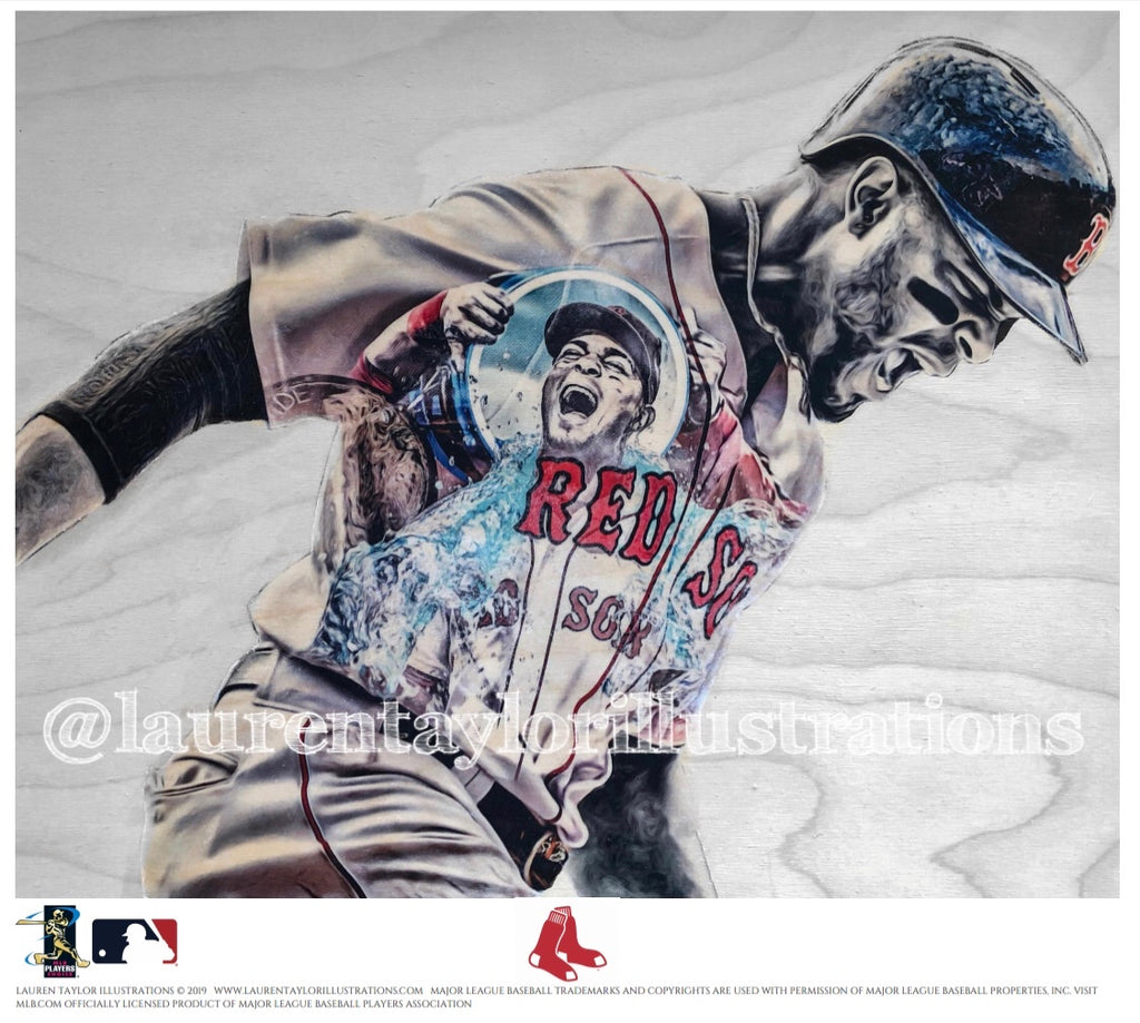 """X-Man"" (Xander Bogaerts) - Officially Licensed MLB Print - Limited Release"
