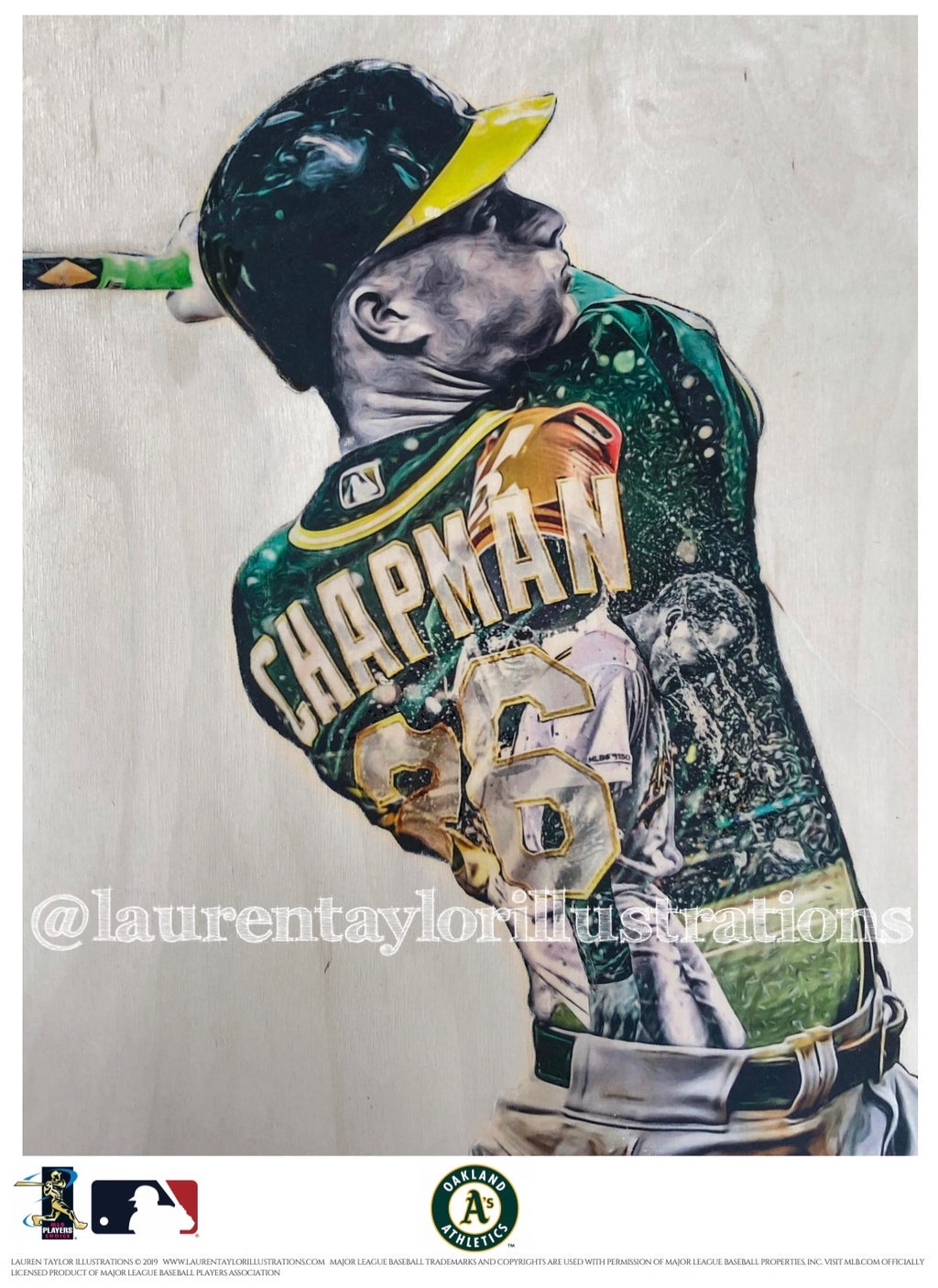 """Chappy"" (Matt Chapman) - Officially Licensed MLB Print - Limited Release"
