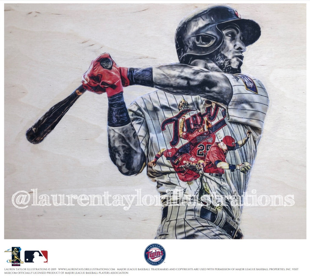 """Rosario"" (Eddie Rosario) - Officially Licensed MLB Print - Limited Release"