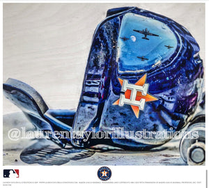 """H-Town"" (Houston Astros) - Officially Licensed MLB Print - Limited Release"