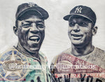 """Captains"" (Willie Mays & Mickey Mantle) 1968 All-Star Game - 1/1 Original on Birchwood"