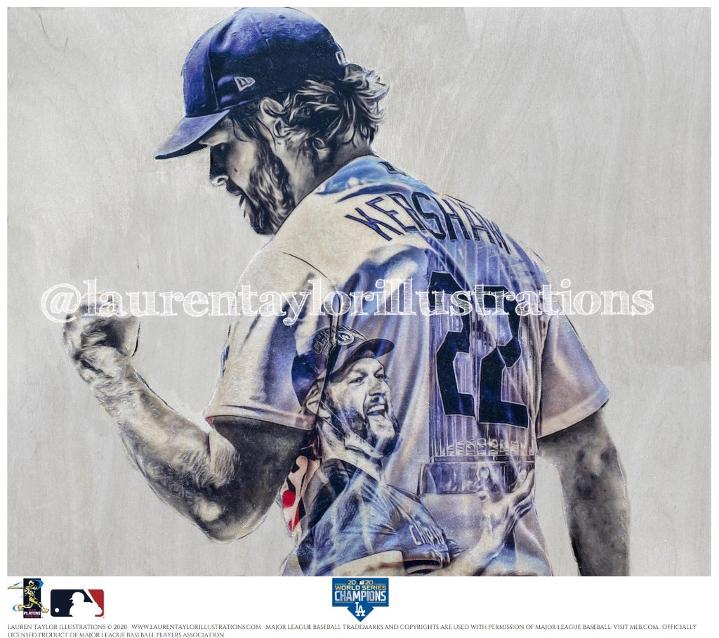 """King Kershaw"" (Clayton Kershaw) 2020 World Series - Officially Licensed MLB Print - Limited Release"