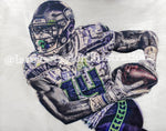 """DK"" (DK Metcalf) Seattle Seahawks - 1/1 Original on Wood"