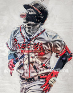 """El Abusador"" (Ronald Acuna Jr.) 1/1 Original on Wood"