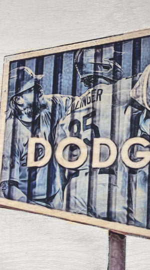 """Dodger Blue"" (World Series Commemorative Piece Part II) Los Angeles Dodgers - 1/1 Original on Wood"