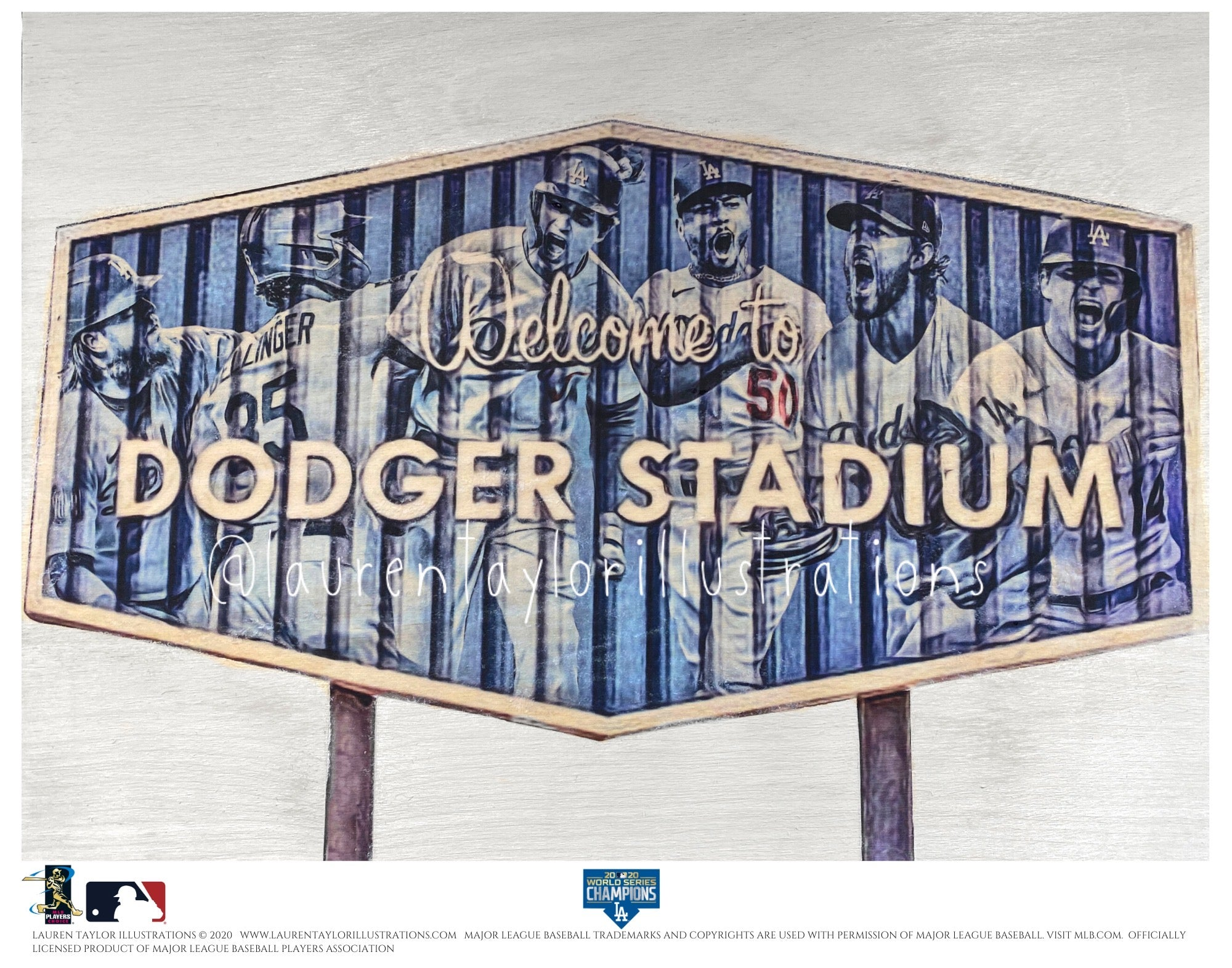 """Dodger Blue"" (Los Angeles Dodgers) 2020 World Series Champions - Officially Licensed MLB Print - Special Commemorative Limited Release"