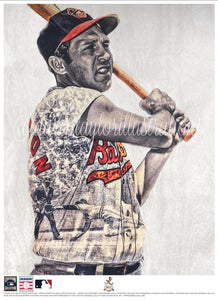 """Brooks"" (Brooks Robinson) Baltimore Orioles - Officially Licensed MLB Cooperstown Collection Print - Limited Release"