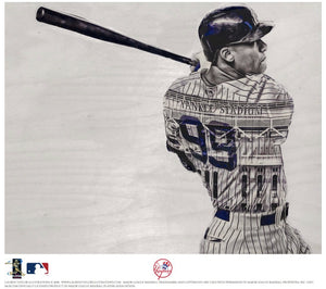"""99"" (Aaron Judge) New York Yankees - Officially Licensed MLB Print - SILVER ARTIST SIGNATURE Limited Release /5"